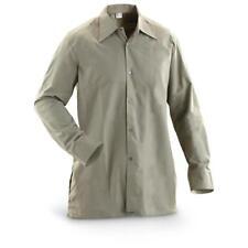 NEW Army Surplus Vintage Shirt Casual Smart Foliage Grey Czech  Cotton