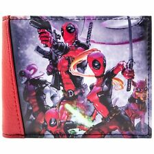NEW OFFICIAL MARVEL DEADPOOL TEAM FIGHTING RED ID & CARD BI-FOLD WALLET