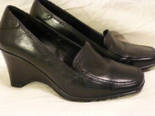 ROCKPORT SInnovation Black Leather Loafer Pumps Wedge High Heels Womens Shoes 5M