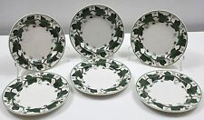 Set of 6 WEDGWOOD Napoleon Ivy Bread and Butter Plates