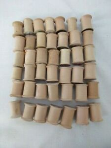 42 vintage wood sewing thread spools