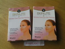 SKINLITE wrinkle care eye gel patches for all skin types 2 x 12 pack, free post
