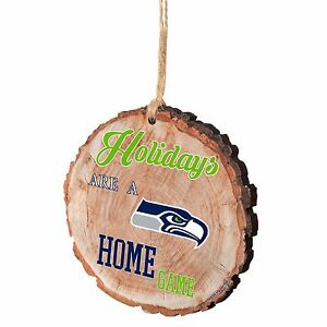Seattle Seahawks Christmas Tree Ornament Stump New - Holidays are a Home Game