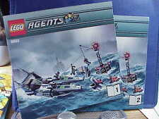 Lego 8633 AGENTS SPEED BOAT RESCUE Both Instruction Manuals ONLY!! MINT CONDTION
