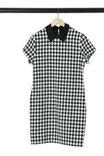 Dogtooth Print Dress Fit and Flare New Arrival