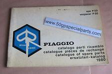 PIAGGIO APE P50 VESPACAR P50 CATALOGO RICAMBI 1980