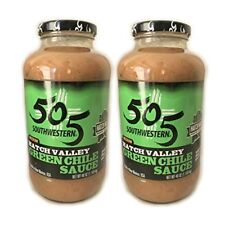 505 Southwestern Green Chile Medium Sauce (2 pack - 40oz each) with recipes