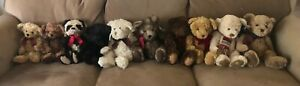 ENTIRE collection Bombay Company Plush Teddy/Bears-One of a kind set!