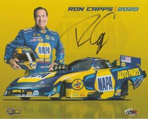 2020 Ron Capps signed Napa Auto Parts Dodge Charger Funny Car NHRA postcard