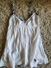Kids Abercrombie Tank Top white size small worn made once?