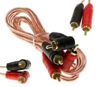 Cinch auf Winkel Stecker Kabel RCA Audio Car Hifi Adapterkabel 1m vergoldet