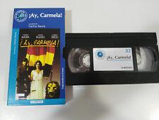 ¡ AY CARMELA ! CARLOS SAURA MAURA PAJARES VHS CAJA CARTON CASTELLANO EL MUNDO