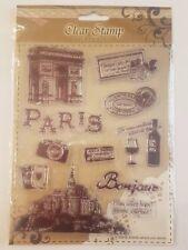 Sello de claro Intercambiable elaboración de tarjetas 'Paris'S Vintage Style