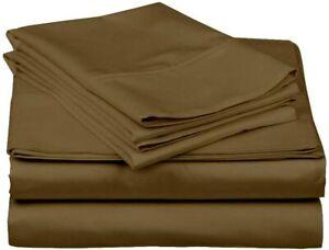 Arizona Luxury 100% Cotton Breathable Soft California King 600TC Sheet Set Taupe