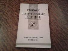 l'economie de l'europe centrale germanique - rene clozier (1947)