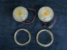 JEEP CJ5 1969-1976 1/2  C101  JEEPSTER 1969-1971 FRONT TURN SIGNAL LAMP KIT !
