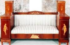 SOFA COUCH SITZ LIEGE INTARSIEN Barock Louis seize XV XVI Empire Biedermeier