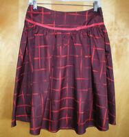 NWT womens ladies size 2 burgundy red ISAAC MIZRAHI full skirt free shipping