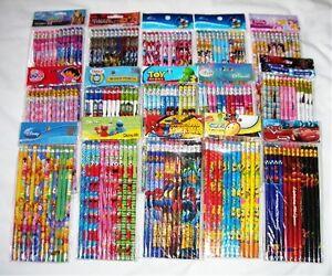 180 pcs Disney & Cartoon Characters Licensed Pencil Wholesale School Supply Lot
