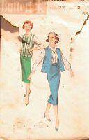 RARE+VINTAGE USED 1950'S BUTTERICK OUTFITS SEWING PATTERN 8530 SIZE 12-32""