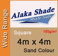 New Shade Sail - Sand Colour Square 4m x 4m, 4x4m, 4mx4m, 4 by 4m, 4 x 4