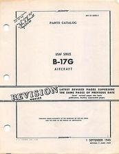 B-17G Parts Catalog Air Force Manual Flight Manual .....CD Version