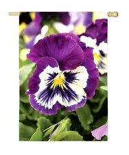 Pansies Pansy spring Summer flower Small Mini Garden Flag