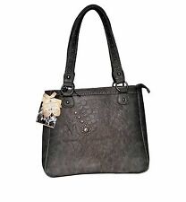 Montana West Dual Sided Concealed Carry Handbag Head Embroidery Purse Bag