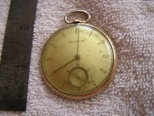 Antique Bulova Pocket Watch 17 Jewels 10K Rolled Gold Plate 17AH
