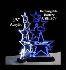 Battery - USB Operated LED Rechargeable  Name Plate, Office Sign - Award -Trophy
