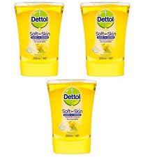 3 x Dettol No Touch Machine Handwash Refills Citrus Liquid Soap Refill