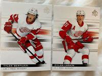 Tyler Bertuzzi, Dylan Larkin Redwings 2019-20 SP Authentic Base Cards