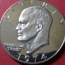 """>>1974-s  EISENHOWER """"S-PROOF"""" SILVER DOLLAR, """"BU"""" UNCIRCULATED, 4th of SERIES"""