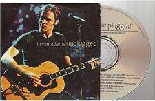 BRYAN ADAMS unplugged CD PROMO france french card sleeve