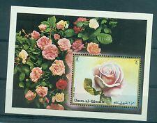 FLEURS - FLOWERS UMM AL QIWAIN 1972 Blue Moon Rose block