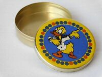 Vintage Soviet Empty Candy Tin Box - DONALD DUCK, USSR, 1970s