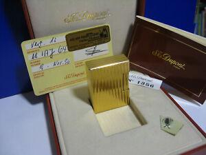 Dupont Feuerzeug Gold, Linie 1, original, FULL-SET, TOP !!