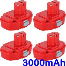 4x 18V 3.0AH NI-MH Battery For Makita 1822,1823,1833,1834,1835,1835F,PA18,4334D