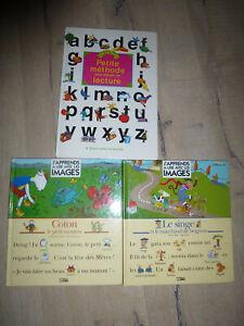 Lot 3 livrers pour apprendre à lire facilement