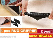 4x RUG GRIPPERS Non Slip Reusable Carpet Mat Gripper Anti Skid Washable Grip
