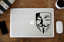"Guy Fawkes / Anoymous Vinyl Decal for Apple MacBook Air/Pro 11"" 12"" 13"" 15"""