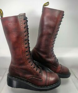Dr. Martens 9A21 Made In England Wedge Boot RARE 16 Eyelet Women's UK 5 US 7