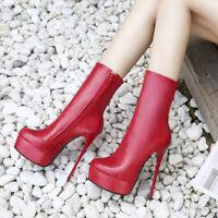 Fashion Women Stiletto Booties Drag Queen Crossdresser Platofrm High Heels Shoes