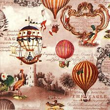 4x Paper Napkins for Decoupage Decopatch Craft Painted Dreamer Ballons