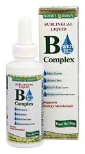 6 Pack Nature's Bounty Vitamin B Complex Sublingual Liquid 2 Oz Each