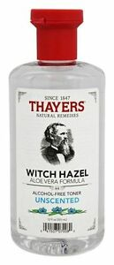 Thayers Witch Hazel Alcohol-Free Toner UNSCENTED Aloe Vera Formula - 12 oz