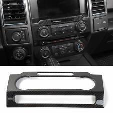 17-19 Ford F250 F350 Carbon Fiber Molded Radio Bezel Dash Trim