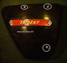 1969-74 Triumph Trident 750, T150V,OEM, Oil Tank Side Panel CHROME Screws (3)