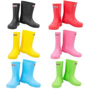 Boys Girls Kids Wellington Wellies Boots Rain Boots EU 23 -35 / UK 5 -13