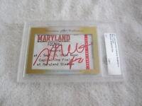 Melo Trimble 2017 Leaf Masterpiece Cut Signature signed card 1/1 JSA Maryland